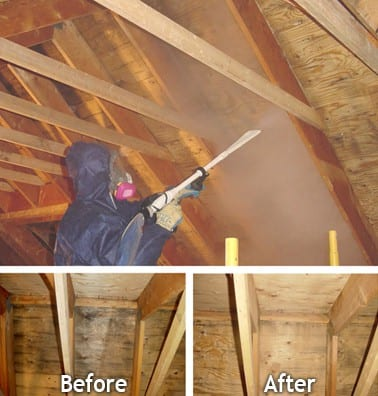 Dry Ice Blasting Attic Mold