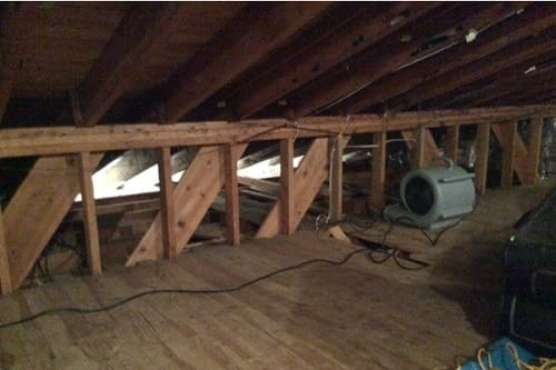Drying Out The Attic With A Fan