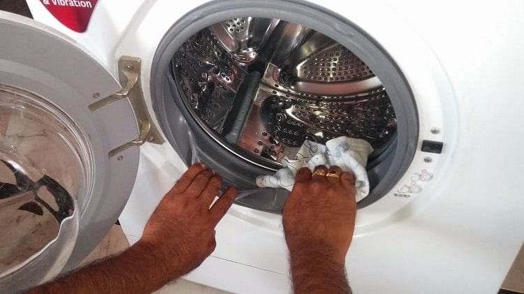 cleaning mold from washing machine