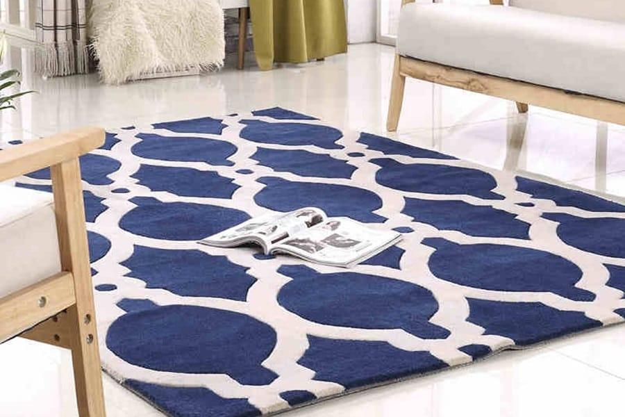 Acrylic mold resistant carpets