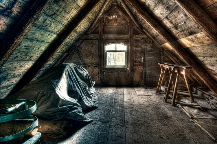 HOW TO REMOVE ATTIC MOLD BY POWER SANDING